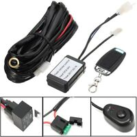 12V 3M Remote Control Key Wiring Harness Switch Relay Kit LED Work Light Bar 40A