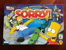 2007 Parker Brothers The Simpsons Sorry Board Game Complete in Box Great Cond.