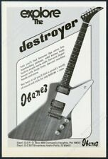 1976 Ibanez Destroyer guitar photo vintage print ad