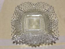 Vintage Fenton Clear Glass Candy Dish