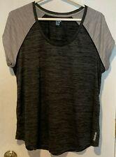 Reebok ladies running exercise shirt, gray/grey, size 1Xl, Euc