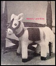 Make from yarn oddments. Vintage Knitting Pattern Toy Cute Horse//Pony /& Foal