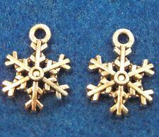 100 Pcs. WHOLESALE Tibetan Silver SNOWFLAKE Charms Earring Drops Q0541