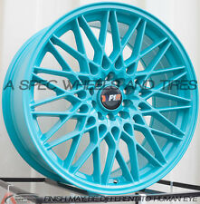 18X8.5 F1R F23 WHEEL 5x100/114.3 +38 TEAL RIM FITS HONDA ACCORD CIVIC PRELUDE