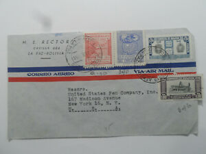 Discount Stamps : BOLIVIA AIR MAIL COVER USED TO NY USA