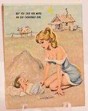 Vintage Pin Up Girl Front Strike Matchbook Full Unstruck Old Fashioned Girl