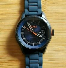 Hugo Boss1550049 Blue Watch With 46mm Blue Face & Blue Silicone Band
