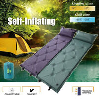 Single Self Camping Roll Mat/Pad Inflatable Bed Sleeping Mattress +Bag