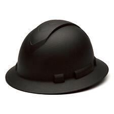 Pyramex Ridgeline Hard Hat Graphite Pattern Black Full Brim Ratchet, HP54117