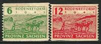 Germany Allied Occupation (Saxony) 1945 MNH - Land Reform Mi 85C-86C Postal Perf