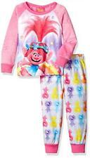 Trolls Girls L/S Pajama Top 2pc Set Size 4 6 8 10