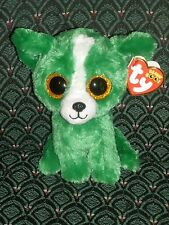 """Ty Beanie Boos - DILL the Gift Show Exclusive Green Chihuahua Dog ~ 6"""" ~ 2015"""
