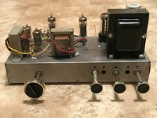 Vintage Zenith single ended stereo tube amplifier Amperex pair 6Bq5 12Ax7 works*