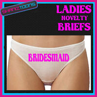 LADIES KNICKERS PERSONALISED BRIDESMAID HEN PARTY NIGHT