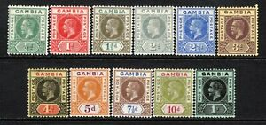 Gambia KGV 1912-22 (Wmk Multi CA) Selection to 1s LM/Mint