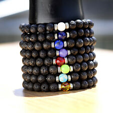 New Women Men Charm 8mm Natural Stone Beaded Stretch Fashion Energy Bracelets