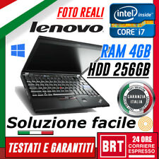 """PC NOTEBOOK LENOVO THINKPAD X220 TABLET 12"""" CPU i7 4GB RAM HDD 256GB TOUCH WIN10"""