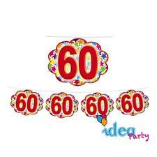 FESTONE Nuvolette 60 ANNI - addobbi festa a tema 60° Compleanno - 4 m