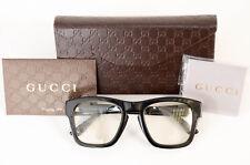 Gucci GG3791/S black signature logo square frame optical eyeglasses NEW $335