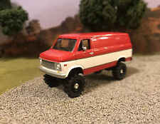 1976 Chevy G20 Van Lifted 4x4 Custom 1/64 Diecast Farm Truck Off Road Mudder 4WD