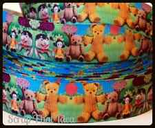 "PLAY SCHOOL  Ribbon. 1"" Grosgrain. Scrapbooking / Craft. Jemima, Big Ted, Humpty"