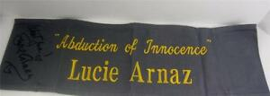 Lucie Arnaz  Director Chair Banner Abduction Innocence Movie Signed COA Lucille