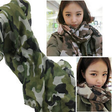 Celebrity Fashion OverSize Camouflage Print Scarf Pattern Wrap Army Green