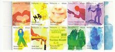 MALAYSIA 2011 VIRTUES (GREETING) BLOCK OF 10 STAMPS IN MINT MNH UNUSED CONDITION