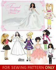 RETIRED DOLL CLOTHES PATTERN! FITS BARBIE~BRATZ~LIV~MOXIE! GOWNS~CASUAL CLOTHES!