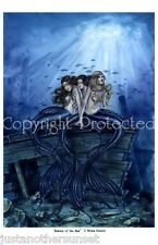 Selina Fenech Print Mermaid Three Sisters of the Sea Ship NEW Ocean 8.5x11""