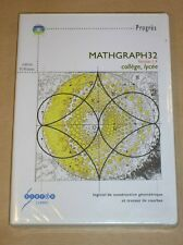 CD ROM PC / MATGRAPH 32 / CONSTRUCTION GEOMETRIQUE / RARE, NEUF SOUS CELLO