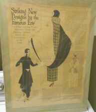1924 Erte Striking New Designs 3 Figure Newspaper Clipping Full Page