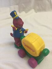 "The Lyons Group Barney Figure in a Band Playing Yellow Drum 5"" Figure GUC"
