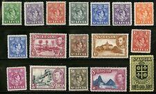 St Lucia   1938-48   Scott # 110-126   Mint Never Hinged Set