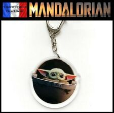 Porte Clés NEUF en PVC (Keychain) Star Wars Mandalorian Bébé Yoda The Child (B)