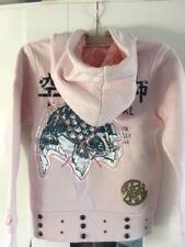 128GB Langarm Mädchen-T-Shirts & -Tops mit Kapuze Größe
