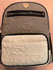 Betsey Johnson Baby Bag Diaper Backpack Grey Multi Betsey Baby Bottle Holder New