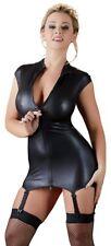 Hochgeschlossenes Minikleid aus mattglänzendem Stoff  Kleid armlos Strapskleid