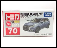 TOMICA #70 MITSUBISHI OUTLANDER PHEV 1/63 TOMY 2016 SEPTEMBER MODEL DIECAST CAR