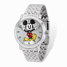 Brand New Disney® Unisex Adult Size Silver Dial Mickey Mouse Moving Arms Watch