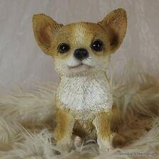 Gartenfigur Hund Chihuahua 3252 Haus Garten Deko lebensecht Figur