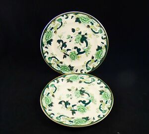 Pair of Masons Patent Ironstone Chartreuse Salad / Luncheon Plates