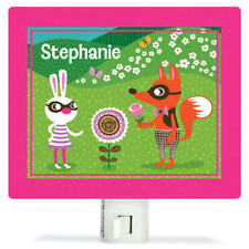 New In Box Oopsy Daisy Funky Woodland Creatures Night Light Girl 5x4 inches Wo24
