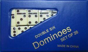 DOMINOES ONLINE DOUBLE SIX GAME MEDIUM SET 28 TILES & CASE/FREE DOMINO SALE