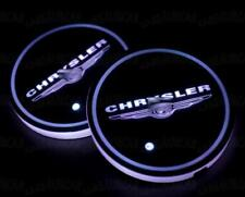 2PCS LED Car Cup Holder Pad Mat Fit For Chrysler Auto Atmosphere Lights Colorful