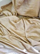 "1 MTR BEIGE/GOLD FLORAL BROCADE FABRIC...45"" WIDE"