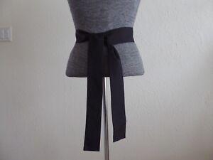 "Japanese OBI Cotton Sash Belt Black 58""L x 2""W"