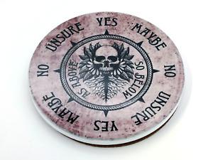 Round Ceramic Pendulum Board with As Above, So Below Design, For Reiki, Dowsing