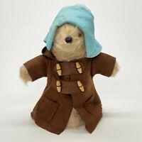 "Vintage Paddington Bear 11"" Hand Puppet Gabrielle Designs England Brown Coat"