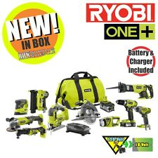 Ryobi P1895 ONE+ 18-Volt Lithium-Ion Cordless Combo Kit (10-Tool) NIB